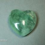 Сердце из флюорита, 2,5x2,5х1,2 см
