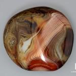 Агат мадагаскарский, полированная галька 10,7х9,8х4,5 см