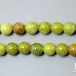 Серпентинит, нитка с бусинами для рукоделия 6-7 мм
