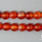 Сердолик, нитка с бусинами для рукоделия 8-9 мм