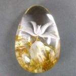 Горный хрусталь «Аквариум» с инталией, 4,3х2,7х1,7 см