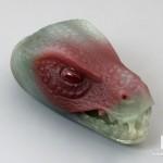 Голова тираннозавра из халцедона, 4,7х2,6х2,3 см