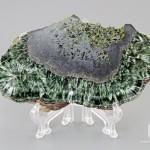 Клинохлор (серафинит), полированный срез 10,9х6,5х0,9 см
