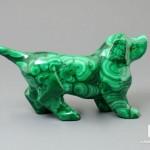Собака из малахита, 8,5х4,6х2,2 см