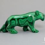 Пантера из малахита, 8,8х3,9х2,1 см