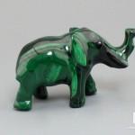 Слон из малахита, 5,5х3,3х2,3 см