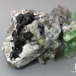 Флюорит с шерлом и кварцем, 10,3х7,5х6,8 см