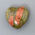 Сердце из унакита, 2,5x2,5х1,2 см