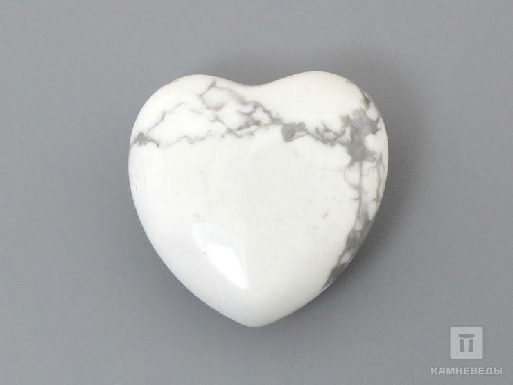 Сердце из говлита, 2,5x2,5х1,2 см
