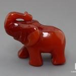 Слон из сердолика, 5х3,5х2 см