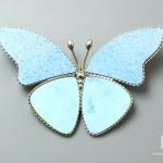 Брошь «Бабочка» с бирюзой, 4,8х3,2х0,2 см