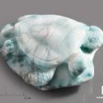 Черепаха из ларимара, 6,4х5,5х2 см