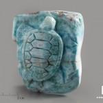 Черепаха из ларимара, 5,6х4,9х2,2 см