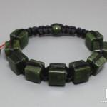 Браслет из зеленого нефрита, шамбала