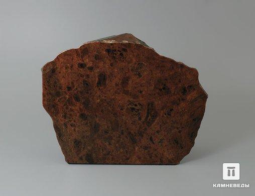 Обсидиан коричневый, полированный срез 13,6х10,6х4,1 см