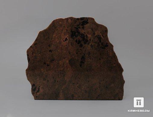 Обсидиан коричневый, полированный срез 14,9х12,8х4,2 см
