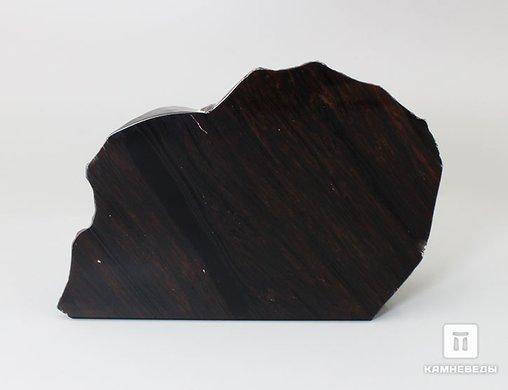 Обсидиан, полированный срез 12,1х8,8х4,4 см