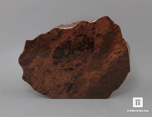 Обсидиан коричневый, полированный срез 17,1х12,6х4,9 см