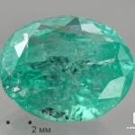 Берилл зеленый, огранка 7,5х6,8х4 мм (0,99 ct)