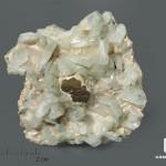 Альбит с халькопиритом и тремолитом, 4,7х4,7х1,7 см