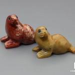 Тюлень из агальматолита