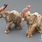 Слон из агальматолита, 7,6х5,2х2,8 см