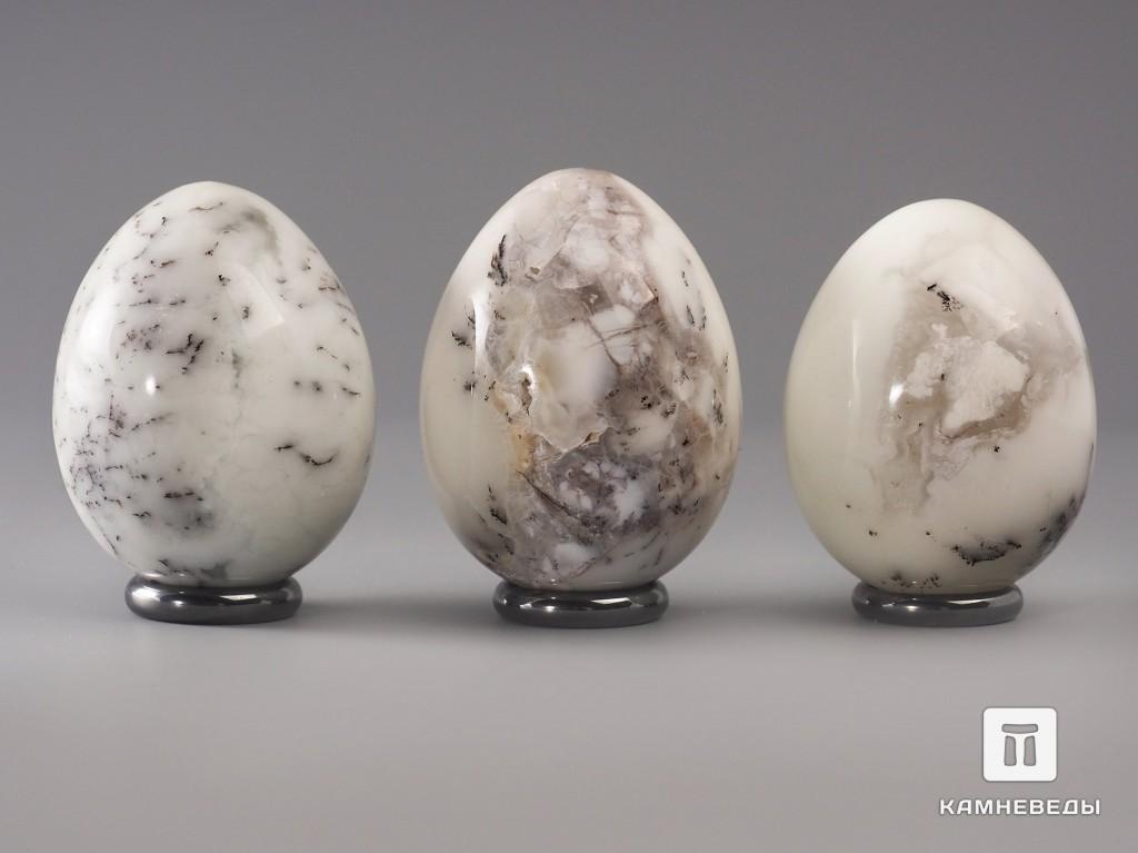 Яйцо из белого дендритового опала, 6х4,6 см