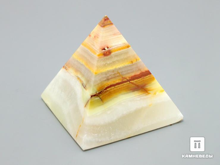 Пирамида из мраморного оникса, 5х5 см