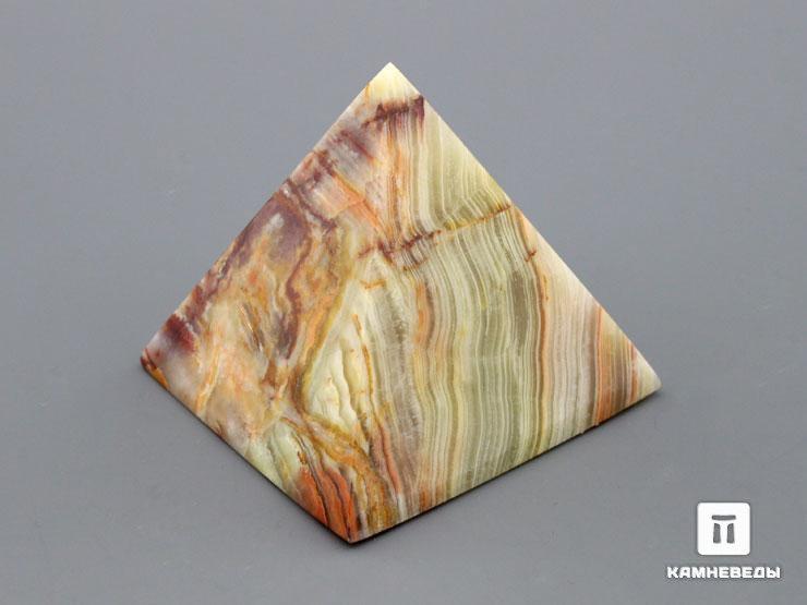 Пирамида из мраморного оникса, 6х6 см