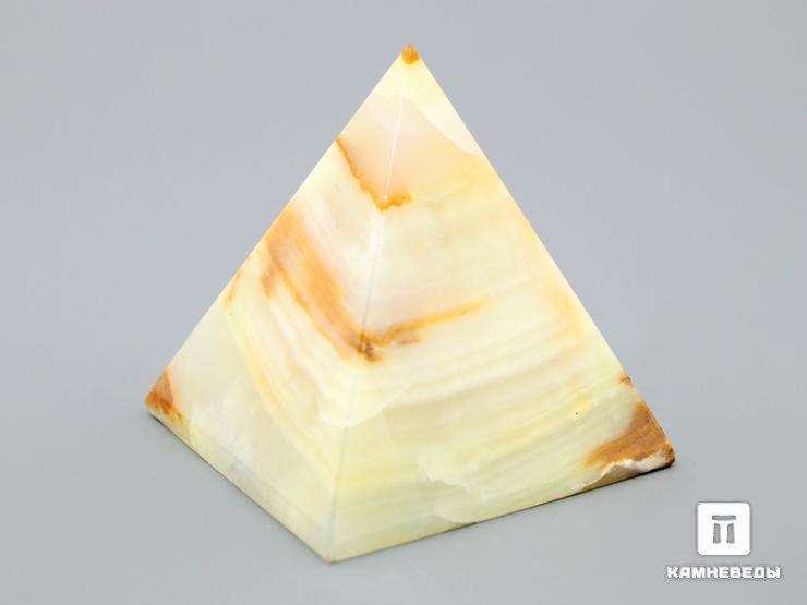 Пирамида из мраморного оникса, 3х3 см