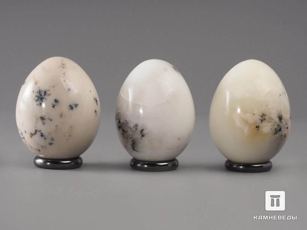 Яйцо из белого дендритового опала, 5,5х4,2 см