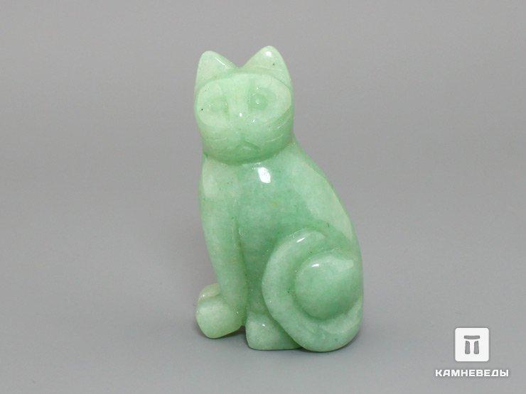 Кошка из зеленого авантюрина, 5х2,7х1,8 см