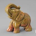 Слон из унакита, 4х3,5х2 см