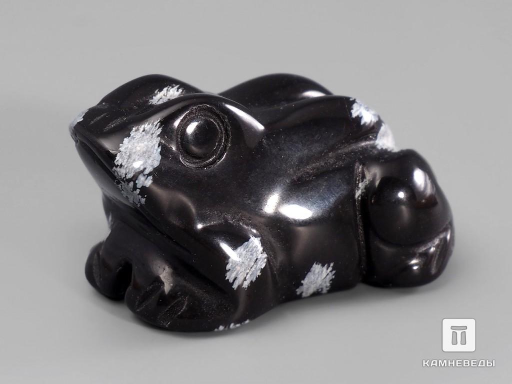 Лягушка из снежного обсидиана, 4х3х2 см